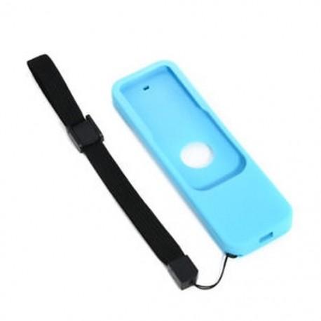 d48a7db5deef Kék Szilikon távvezérlő tok Protective Cover Skin Az Apple TV 4. generációs  Siri számára