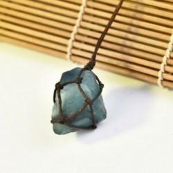 * 2 Természetes fekete turmalin Retro nyers drágakő medál Crystal kézzel szőtt Jet Stone