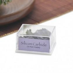 Szilícium-karbid 1 doboz Mini természetes durva kövek nyers rózsa kvarc kristály ásványi sziklák gyűjteménye