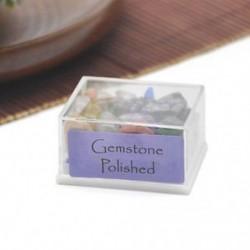 Gemstone Polished 1 doboz Mini természetes durva kövek nyers rózsa kvarc kristály ásványi sziklák gyűjteménye