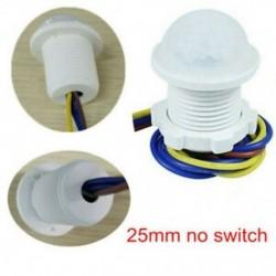 25mm nincs kapcsoló 5W ~ 200W PIR infravörös test mozgásérzékelő vezérlő kapcsoló Fénylámpa otthoni dekoráció