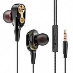 Fekete 7D HIFI Super Bass sztereó fül fülhallgató Dual Dynamaic vezető fejhallgató fejhallgató