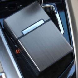 1PCS fekete alumínium fém szivar zseb cigaretta tartó dohány tároló doboz doboz