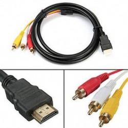 HDMI - 3-RCA AV kábel - Másfél méter hosszú csatlakozó