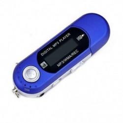 Kék USB 2.0 digitális MP3 lejátszó LCD képernyő támogatás 32 GB-os TF kártya és FM rádió