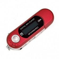 Piros USB 2.0 digitális MP3 lejátszó LCD képernyő támogatás 32 GB-os TF kártya és FM rádió