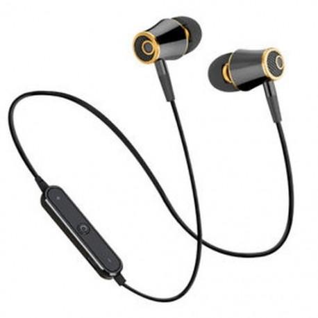 Fekete HIFI Super Bass Headset Sport futó fejhallgató vezeték nélküli Bluetooth V4.1 fülhallgató