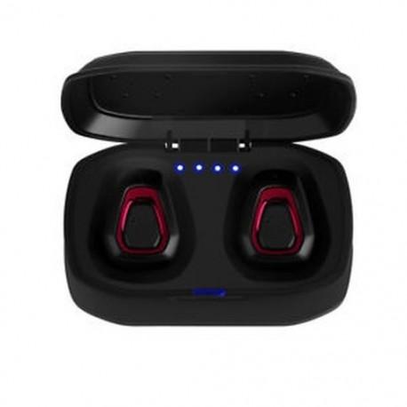 * 3 fekete   piros (Bluetooth 4.2) Vezeték nélküli Bluetooth Earbuds w / Mic True Bass ikrek Stereo In-Ear fülhallgató