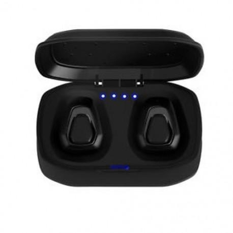 * 3 fegyver fekete (Bluetooth 4.2) Vezeték nélküli Bluetooth Earbuds w / Mic True Bass ikrek Stereo In-Ear fülhallgató