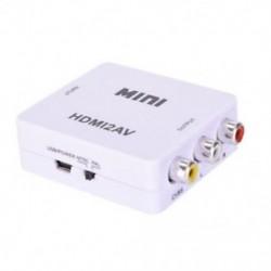 fehér Mini HDMI - RCA AV / CVBS adapter HD 1080P HDMI2AV Video Converter TV-hez