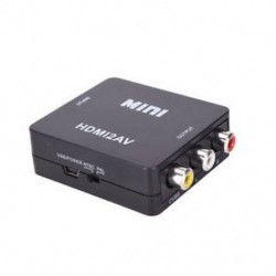 Fekete 1080P HDMI-RCA AV / CVBS adapter HD Mini HDMI2AV videó átalakító TV-hez