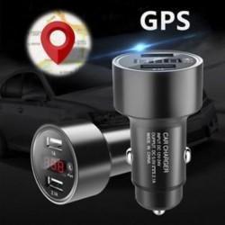 1 x Autós GPS nyomkövető Helymeghatározó eszköz Kettős USB töltő Voltmérő
