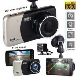 4`` Dual Lens Camera HD 1080P autós DVR jármű videó műszerfal felvevő G-érzékelő