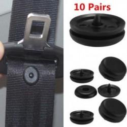 10Pair univerzális csipesz biztonsági öv rögzítő csat gomb rögzítőelemek biztonsági automatikus rész