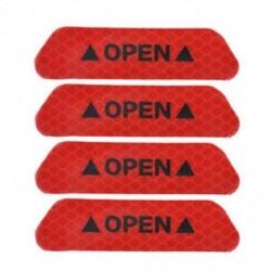 Piros 4db autós ajtó nyitott matrica fényvisszaverő szalag figyelmeztetés automatikus biztonsági matrica ajtó matrica