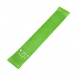 Zöld Ellenállási sávok Gumi edző hurok rugalmas rugalmas nyújtás Fitness kar láb