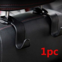 Univerzális autó automatikus fekete hátsó ülés kampó fogas táska kabát pénztárca szervező tulajdonosa