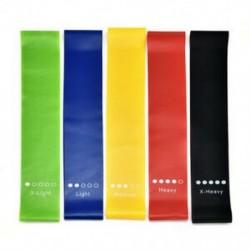 ALL 5 szín Jóga tornaterem Fitness ellenállás rugalmas edzés gumiszalag nyújtási gyakorlat JP