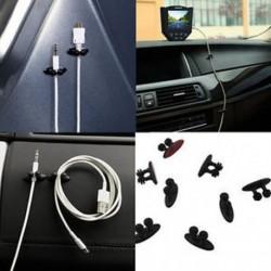 8Pcs autós töltő vonal fejhallgató USB kábel autó klip belső kiegészítők fekete