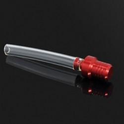 Piros 1db motorkerékpár gázüzemű kupak szelep szellőztető tömlőcső a szennyeződésekhez