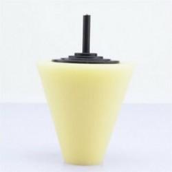 1PC sárga (puha) 3db autók kerékfényes habszivacs szivacs Hub polírozó kúp alakú puffasztó párnák