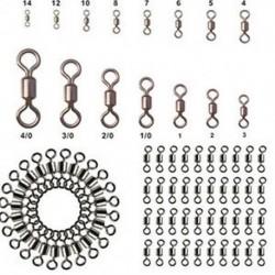 * 8 100db-os sok halászati hordócsapágy forgatható rozsdamentes acél szilárd gyűrű csatlakozó