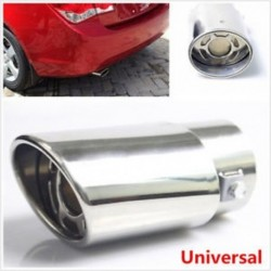 Univerzális autó kerek ezüst rozsdamentes acél kipufogó hátsó hangtompító cső