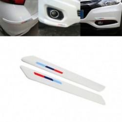 Autó fehér gumi elöl   hátsó lökhárító karcolásvédő csík sarokvédő matrica