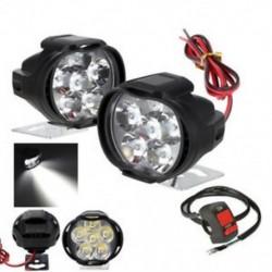 2db Spotlight univerzális LED-es motorkerékpár fényszóró tükör szerelés köd DRL   kapcsoló