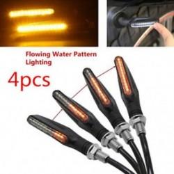 4db univerzális motorkerékpár verseny kerékpár áramlás 12 LED-es jelzőfény