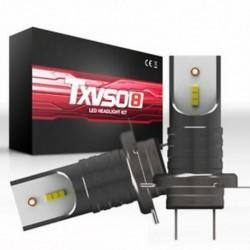 H7 (Gun BlackďĽ ‰ (110W) 9005 9006 H4 H7 H8 / H9 / H11 COB 6000K autós LED fényszórókészlet