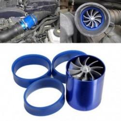 Kék levegőbevitel Turbonator Kettős ventilátor turbó turbófeltöltő gáz üzemanyag-megtakarító JP