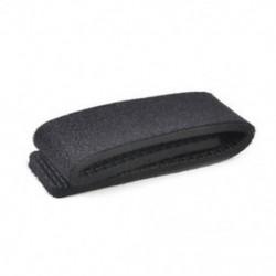 Fekete Horgászbot nyakkendő öv öv fogantyú rugalmas rugalmas szalag szalag pólus tartó eszköz