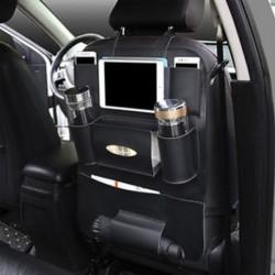 Autósülés hátsó Multi-Pocket bőr fekete tároló táska Szervező tartó tartozék