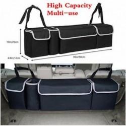 Fekete többcélú autó nagy kapacitású ülés hátsó szervező táska belső kiegészítők