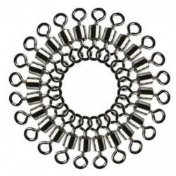* 10 Rengeteg 100Pcs horgászcső csapágy forgatható szilárd gyűrű csatlakozó rozsdamentes acél