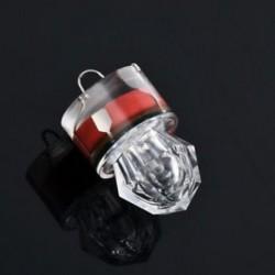 Piros Forró LED mélycsepp víz alatti gyémánt flash halászati könnyű tintahal strobe bait csalit