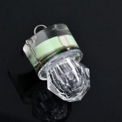Zöld Forró LED mélycsepp víz alatti gyémánt flash halászati könnyű tintahal strobe bait csalit