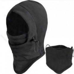 * 2 Fekete Szélálló sí motorkerékpár kerékpározás szabadtéri balaclava teljes arc maszk nyak sál kalap
