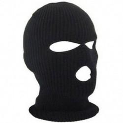 * 3 Fekete Kültéri szélálló sí motorkerékpár kerékpározás balaclava teljes arc maszk kalap nyak sál