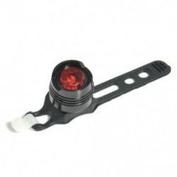 Fekete   piros Kerékpár LED töltés hátsó hátsó lámpa figyelmeztetés biztonsági lámpa piros fény 3 üzemmód