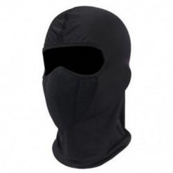 * 1 Fekete Szélálló kültéri sí motorkerékpár kerékpározás balaclava teljes arc maszk kalap nyak sál