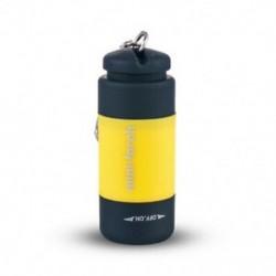 Sárga Mini USB újratölthető LED fénylámpa lámpa zseb kulcstartó vízálló