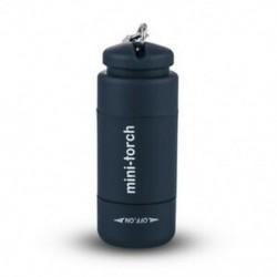 Fekete Mini USB újratölthető LED fénylámpa lámpa zseb kulcstartó vízálló