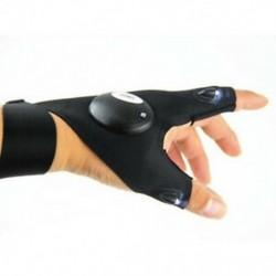 Bal kéz 1db LED-es világító ujjlenyomat kesztyű automatikus javítás szabadban villogó műtermék