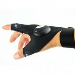 Jobb kéz 1db LED-es világító ujjlenyomat kesztyű automatikus javítás szabadban villogó műtermék