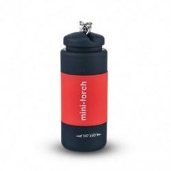 Piros Vízálló USB újratölthető LED fénylámpa lámpa zseb kulcstartó Mini fáklya