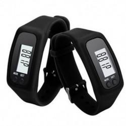 Fekete Digitális LCD pedométer csuklós lépés futás távolsági kalória számláló karkötő J