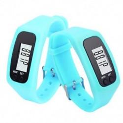 Kék Digitális LCD pedométer csuklós lépés futás távolsági kalória számláló karkötő J