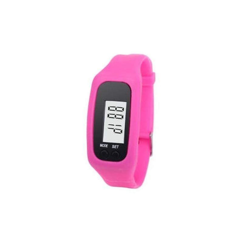 Rózsaszín Digitális LCD pedométer csukló karkötő lépés..